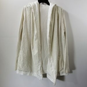 Lululemon Athletica Gray/White Hoodie Cardigan 8